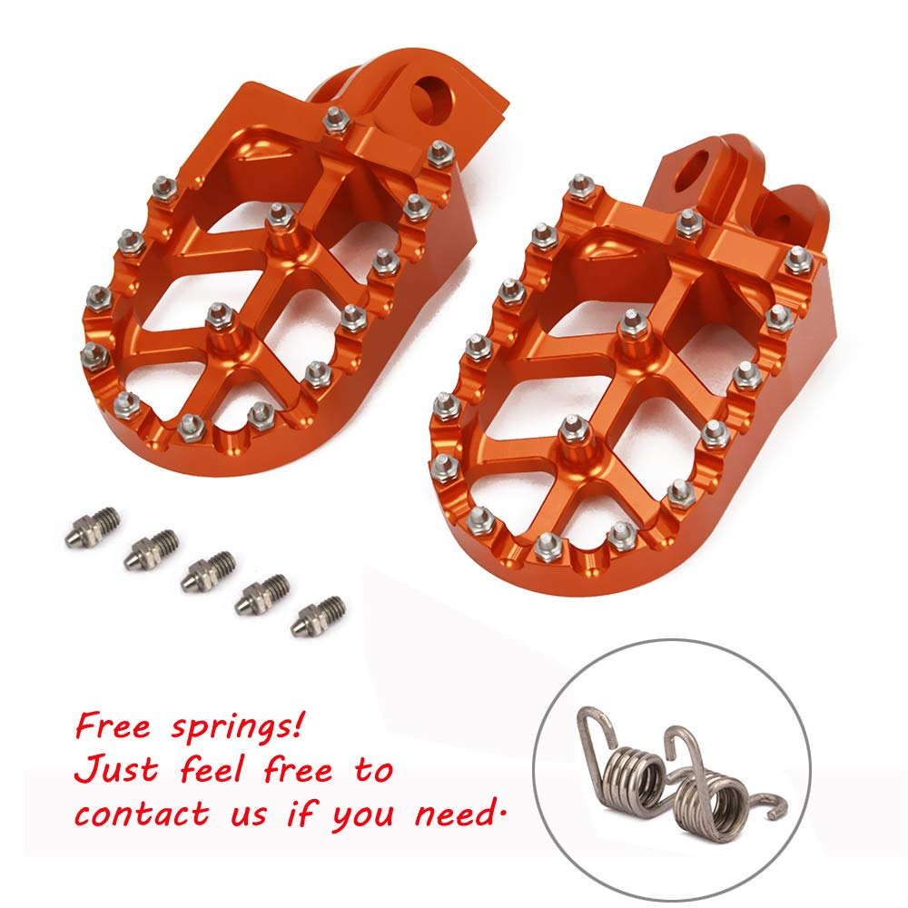 JFGRACING Motorbike Offroad CNC Foot Pegs pedals Foot rests For 65-1290 SX SXF EXC EXCF XC XCF XCW SMC SUPER MOTO ENDURO ADVENTURE FREERIDE 98-18 JFG RACING