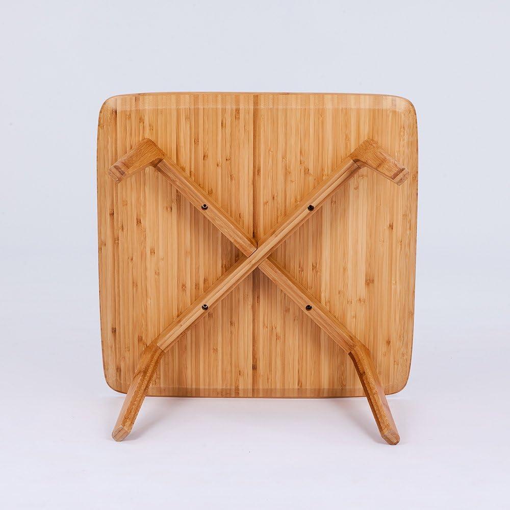 Tavolo tavolino da caff/è quadrato di bamb/ù Zen con cesto portaoggetti e 2/cuscini da letto//Bay Window//balcone//Tatami mobili