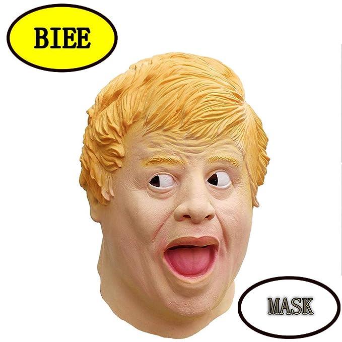 BIEE Máscara de Cabeza Humana de Fiesta de Traje Lujo de Halloween de Boris Johnson (Finance): Amazon.es: Juguetes y juegos