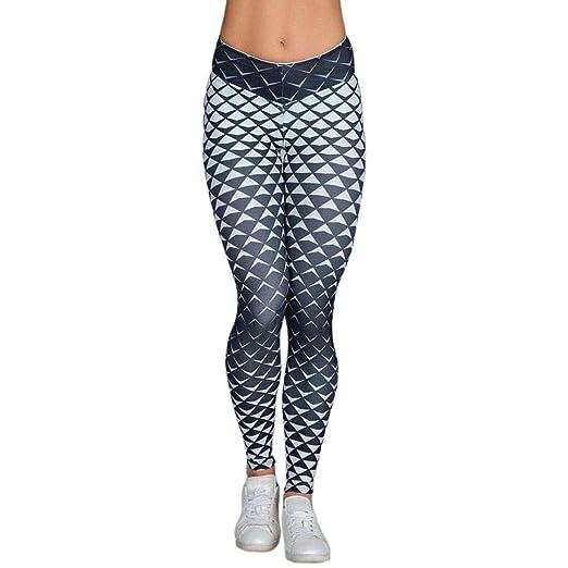 Amazon.com: iMakcc Women High Waist Yoga Fitness Leggings ...
