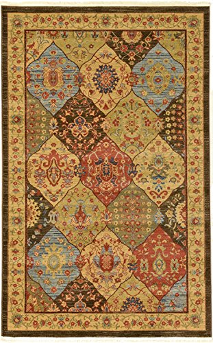 Heritage Collection Persian Traditional Area Rug Blue, Multi - 5' x 8' FT High Class Living Dinning Room & Bedroom Rugs, Oriental Floor and Carpets