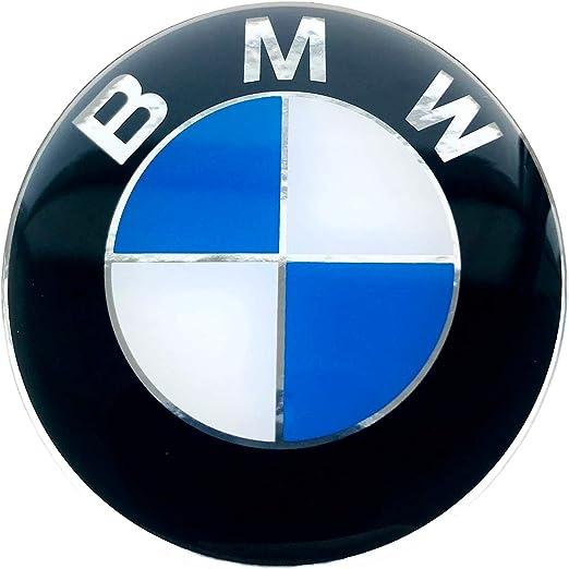 Logoembl Aufkleber 4 X 50 Mm Embleme Kompatibel Mitbmw Radkappen Nabenkappen Nabendeckel Silikon Auto