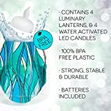 Heedo Lumizu Luminaries Four Pack - Floating LED Candles with Batteries Inlcuded - Luminary Lanterns - Wedding, Party, Patio