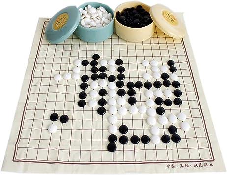FunnyGoo Juego Tradicional de Go Go Go Juego de Mesa de ajedrez, Que Incluye 361 Piezas de Piedras de plástico y Tablero de ajedrez de Tela (con latas de Colores): Amazon.es: Juguetes