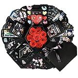 Onlygiftsu Explosion Box Scrapbook DIY Photo Album 15 Funny Cards, 18 Kinds DIY Accessories Kit Birthday Anniversary Valentine Wedding Gifts Her