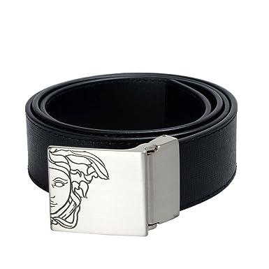 Versace Collection pour homme en cuir Noir avec boucle décoré Ceinture -  Noir - 85 cm da442c1f673