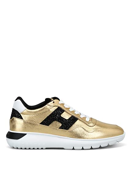 Hogan Sneakers Donna HXW3710AP20JI70ZC1 Pelle Oro  Amazon.it  Scarpe e borse 9d5fbad14d7