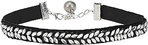 Spesh Women's Diamond Petal Choker Necklace