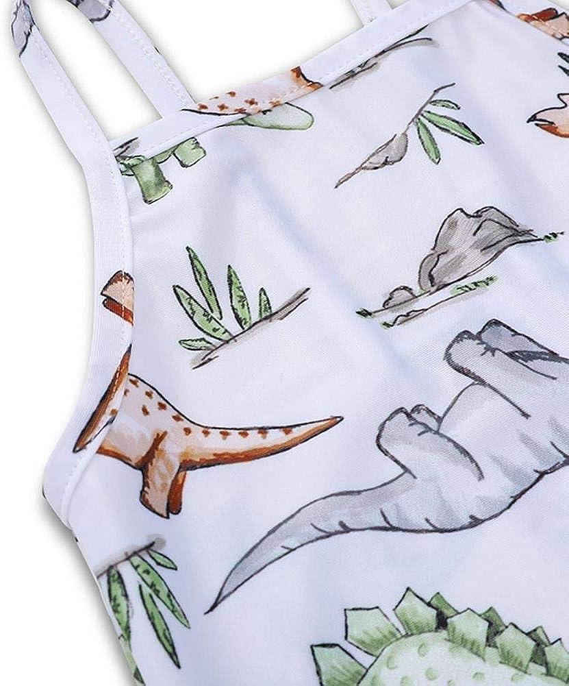 Occitop Cute Girls Baby Dinosaur Print Sling One-Piece Swimsuit Hawaii Beach Bathing Suit