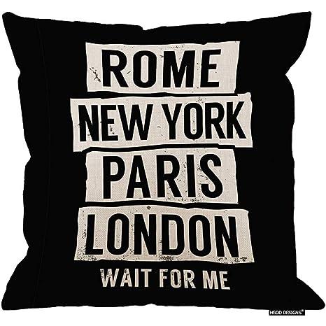 Marlon Kitty Cojín, Lema de Moda Roma Nueva York París ...