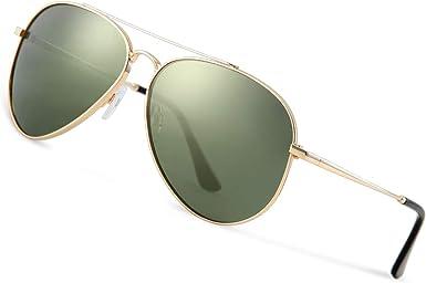 Avoalre Gafas de Sol Aviador, Gafas Polarizadas Hombre Verde ...