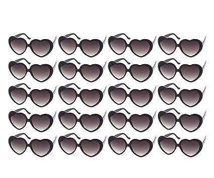 77404bdce1d Amazon.com  10 Packs Neon Colors Wholesale Heart Sunglasses (20 ...