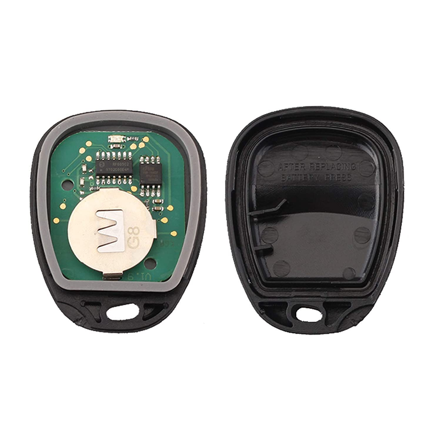 Replace# ABO1502T 16245100-29 Aupoko Keyless Remote Key Fob 4 Button 315 MHz Car Fob Keyless Entry Remote Key Compatible for Chevrolet GMC Cadillac Chevy Pontiac