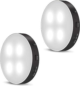 Daffodil Luz de Noche Luces Armario LED con Sensor Movimiento LEC012 - Luz Nocturna LED Lámpara Recargable USB para Dormitorio/Escalera/Sótano/Cocina/Baño/Garaje/Gabinete/Pasillo: Amazon.es: Iluminación