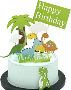Dinosaur Cupcake Toppers 11 PCS - Jurassic Park Decor Cake Topper Picks, Dinosaur Party Supplies Jurassic Park Cupcake Decorations for Kids Boys Girls Baby Friends Birthday Anniversary Party Supplies