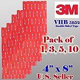 "3m VHB 4"" X8"" Double Sided Foam Adhesive Sheet Tape"