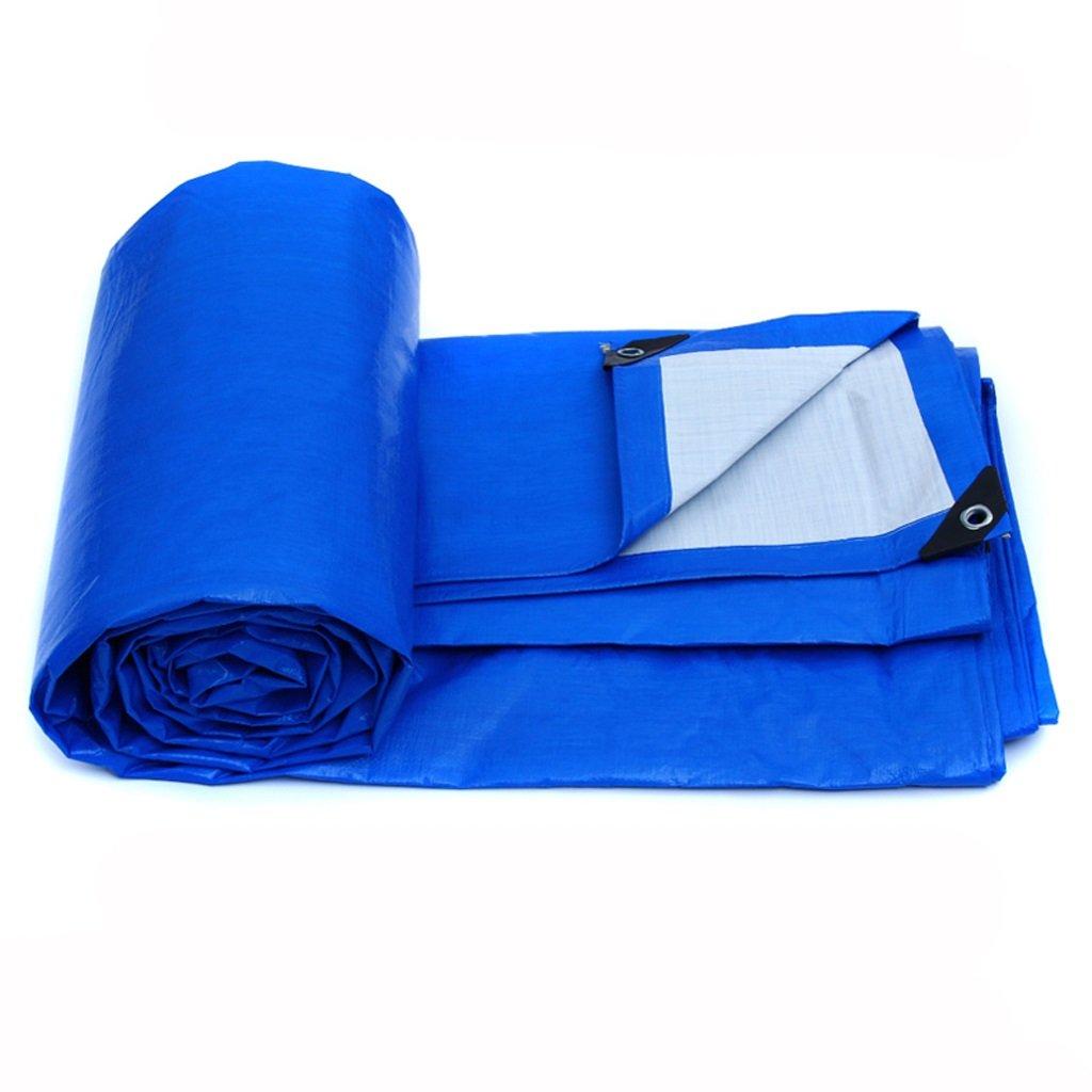プラスチック布の防水雨布の日よけ屋外太陽の断熱 (色 : Blue white, サイズ さいず : 4*3m) B07FHXWJJY 4*3m|Blue white Blue white 4*3m