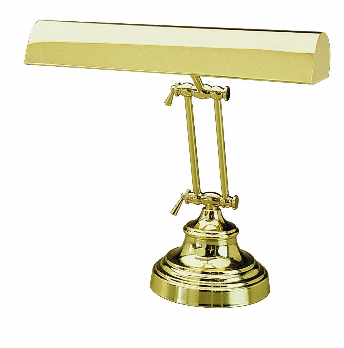 House of Troy P14-231-61 12-Inch Portable Desk/Piano Hinged Lamp, Polished Brass