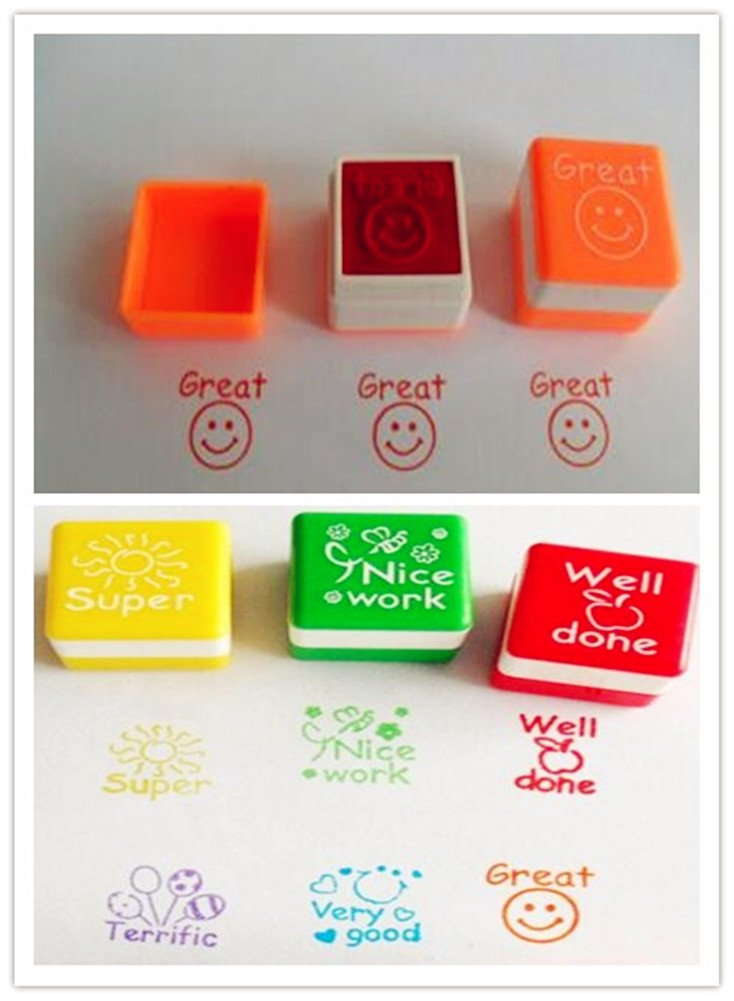 Teachers Self Inking Rubber Stamp Set Review Stamps Pack Of 6