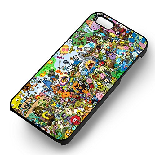 Adventure Time Charachters -tr for Iphone 6 and Iphone 6s Case (White Hardplastic Case) (Cartoon Charachters)