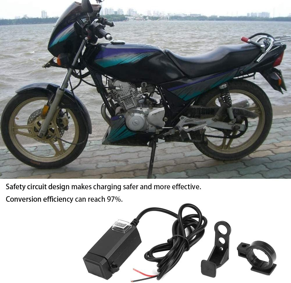 Dual USB Charger,Motorcycle Waterproof Universal Quick Charger with Dual USB 9-12V Power Supply Adapter Fast Charging Multi-functional Modification Equipment