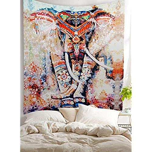 Bohemian Room Decor Hippie Boho Chic Style Gypsy Gifts Elephant Wall  Hanging Tapestry Decor