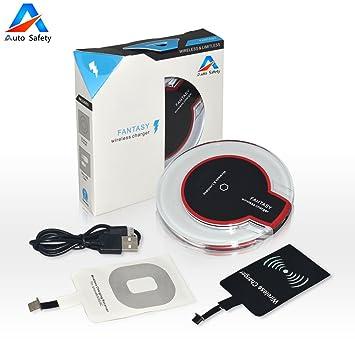 Auto Safety almohadilla de cargador inalámbrico ultra-delgado y portátil universal para todos Qi dispositivos habilitados - para HTC Samsung Galaxy ...