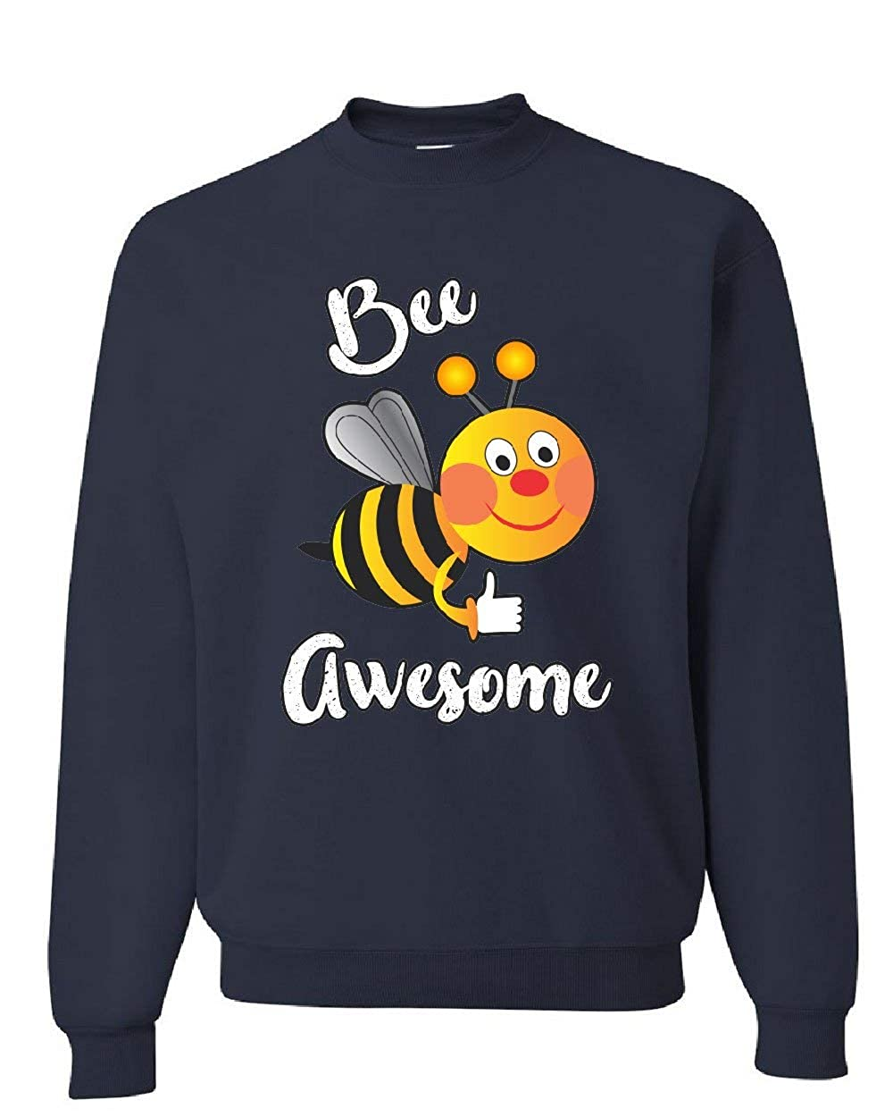 Tee Hunt Bee Awesome Sweatshirt Motivational Funny Cute Honey Bee Be Awesome Sweater