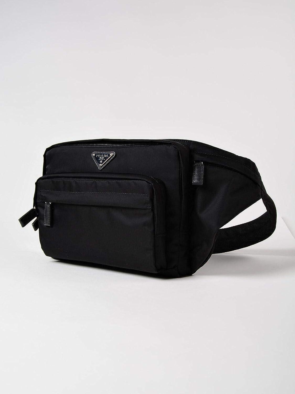 6e11ec63daef Prada Unisex Black Tessuto Montagn Fanny Pack 2VL001  Amazon.co.uk  Luggage