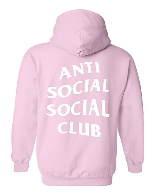 felpa anti social social club rosa in vendita | eBay