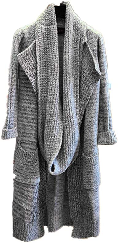 PXiong Womens Winter Knitted Cardigan Plus Size Ladies Overcoat Casual Coat