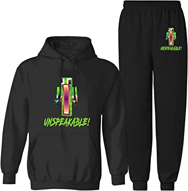 Kids Un-speakable Merch Sweatsuit Christmas Hoodie Tracksuit Sets Gift Hoodies and Sweatpants 2 Piece Suits for Boys Girls