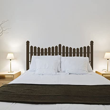 MairGwall Headboard Wall Decal Picket Fence Wall Sticker Bed Vinyl £¨NOT  Real Headboard)