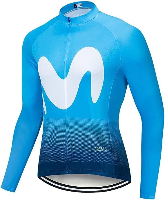 STEPANZU Maillot Ciclismo Hombre Manga Larga Maillot MTB Camiseta ...