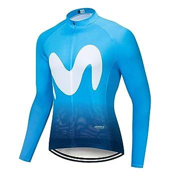 STEPANZU Maillot Ciclismo Hombre Manga Larga Maillot MTB ...