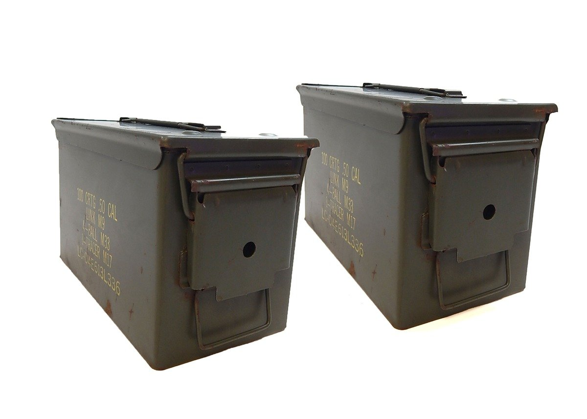 Amazon military 50 cal ammo steel storage cans empty boxes amazon military 50 cal ammo steel storage cans empty boxes light use 2 1b hunting and shooting equipment sports outdoors sciox Gallery