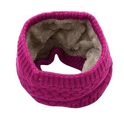 Écharpe d'homme de mode, KEERADS épaisseur tricotée chaude de bufanda de collier d'hiver de Wome Bague écharpe