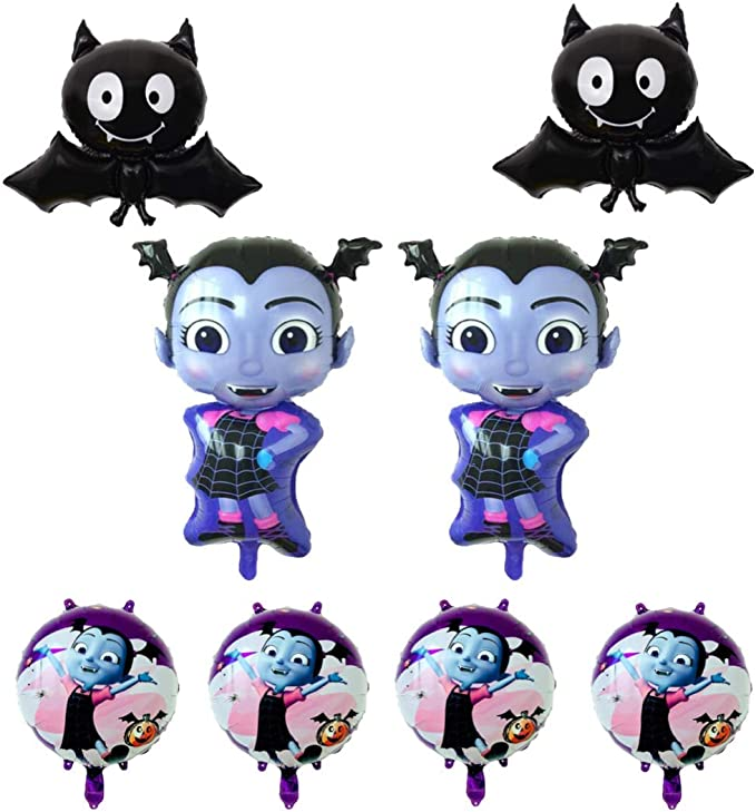 Vampirina Balloon, Birthday Party Supplies 8 Pack Balloons, Disney Party Supply Decorations Girl, Shoppinesonline, USA Seller.
