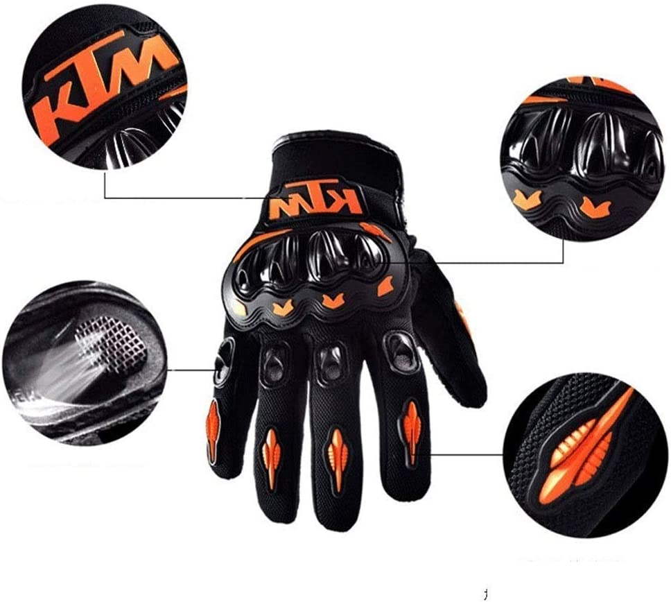Cheetah Beating Accessories Motorcycle Gloves Winter Motorcycle Gloves Goalkeeper Gloves MTB Scooter Full Finger Unisex Gloves for Men//Women KTM Orange XL arancione