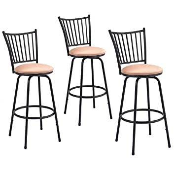 Stupendous Costway Set Of 3 Swivel Counter Height Bar Stools Modern Barstool Bistro Pub Chair Ibusinesslaw Wood Chair Design Ideas Ibusinesslaworg