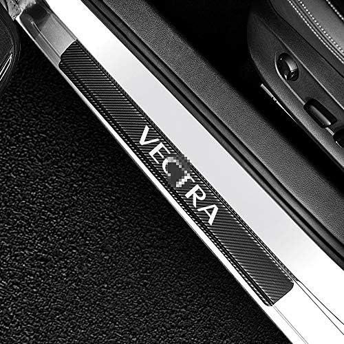 JXSMQC Protecteur de seuil dautocollants de seuil de Porte de Voiture./pour Opel OPC Astra Insignia Corsa E Mokka Vectra