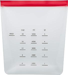 Chef Select Food Storage & Marinade Standing Bag, 1-Gallon, Reusable