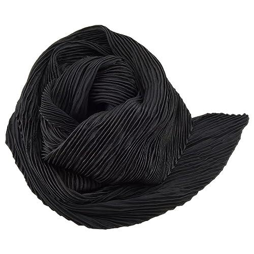 signore raso piega sciarpa dehnbar nero ca. 80 x 70 cm – panno foulard sciarpa
