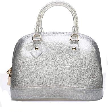Lady's Candy Color Jelly Handbag Satchel Tote Shell Bag Crossbody Shoulder Bag Top Handle Bags