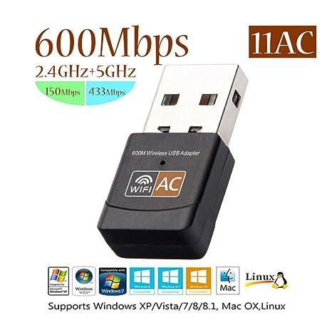 ZYLFN Adaptador WiFi USB, Adaptador de Tarjeta de Red ...