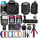 Holiday Saving Bundle for D810 DSLR Camera + 18-140mm VR Lens + Battery Grip + 64GB Class 10 Memory Card + 6PC Graduated Color Filer Set + 2yr Extended Warranty + 32GB - International Version