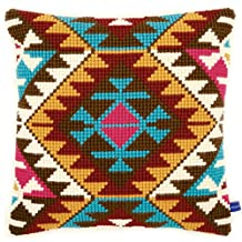 Cross Stitch Cushion: Ethnic Print