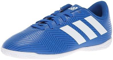04313a7e48c3 adidas Unisex Nemeziz Tango 18.4 Indoor Soccer Shoe, White/Football Blue, 1  M