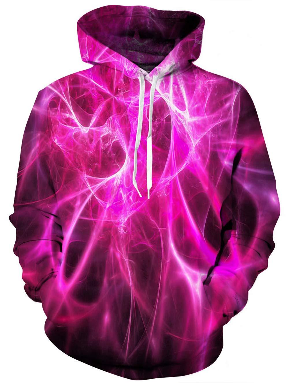 TUONROAD Unisex Hoodie 3D SchäDel Sweatshirt Kapuzenpullover Pullover ÜBergrößE Tops Hoodie Langarm Casual Kapuzenjacke Mit Taschen