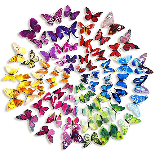 Mudder Butterfly Removable Stickers Decoration
